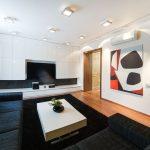Минимализм в оформлении гостиной