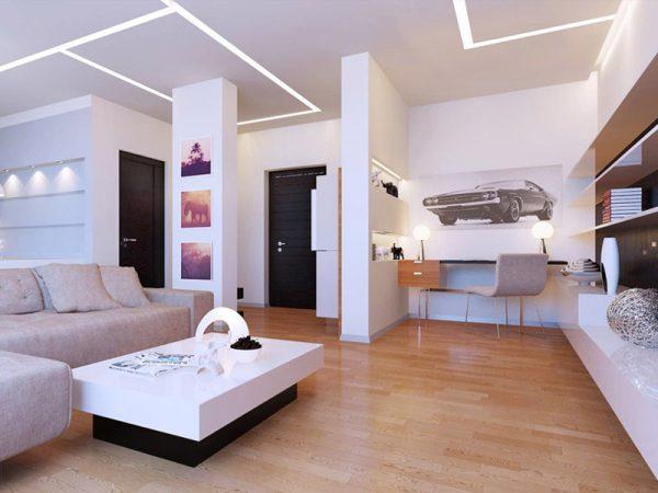 Источники освещения в гостиной