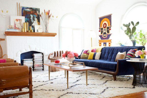 Яркие элементы декора в интерьере