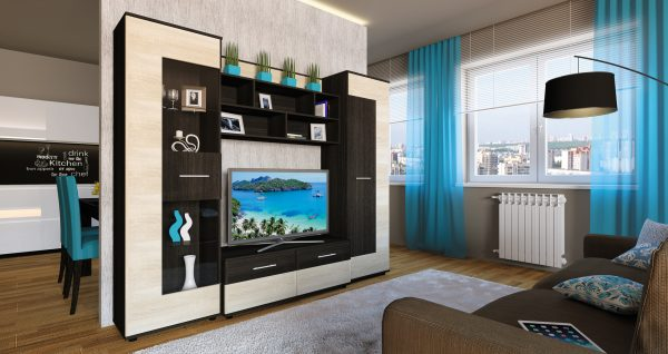 Гостиные комнаты в стиле модерн
