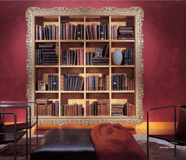 Полки для книг в стиле барокко