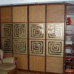 Шкафов-купе с бамбуком