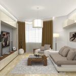 Стиль минимализм в оформлении светлой гостиной
