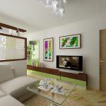Дизайн гостиной спальни 20 м
