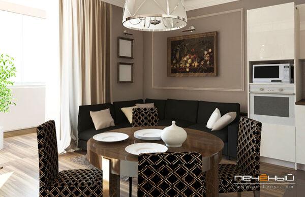 Современная гостиная: стиль фьюжн