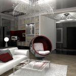 Элементы техно стиля в дизайне гостиной