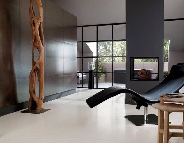 Необычный дизайн мебели в минималистском интерьере гостиной