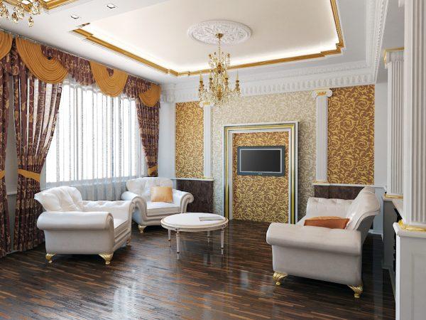 Идеи для дизайна гостиной в классическом стиле