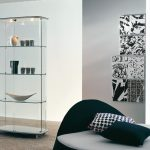 Шкаф витрина в стиле минимализм