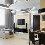 Дизайн гостиной, совмещенной с обеденной зоной