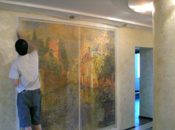 Монтаж фресок