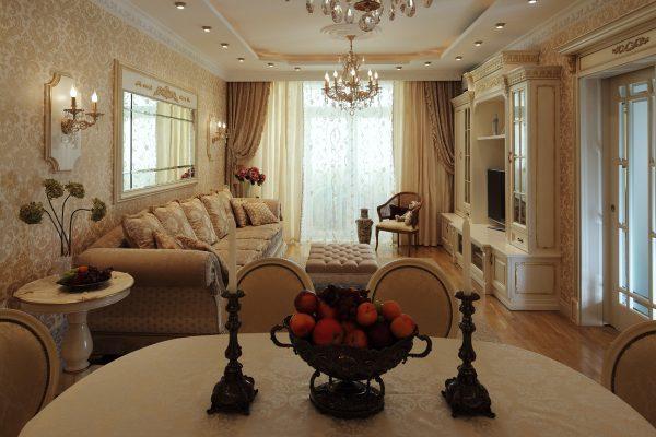 Светлая мебель в классическом интерьере