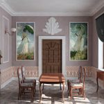 Фрески - портреты в интерьере гостиной