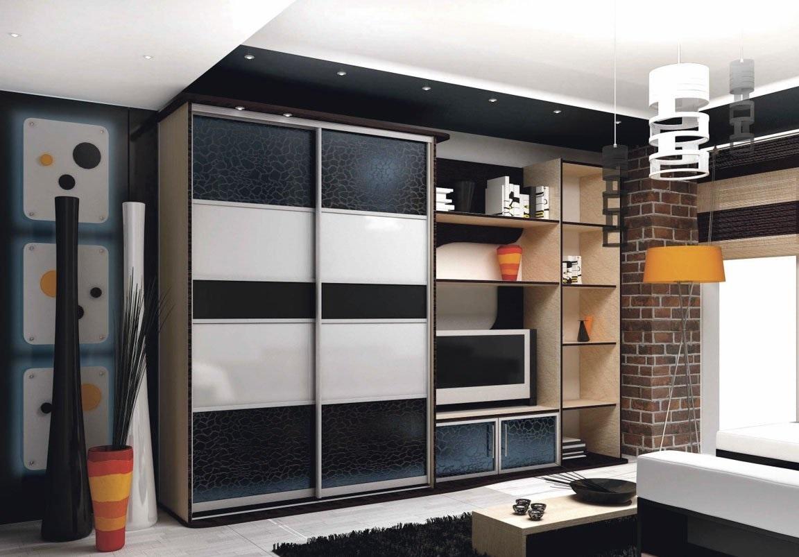Дизайн шкафа-купе для гостиной