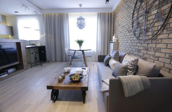 Дизайн квартиры в силе лофт