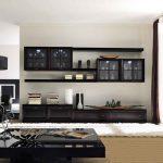 Модульная стенка в интерьере гостиной