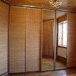 Шкафы-купе из ротанга
