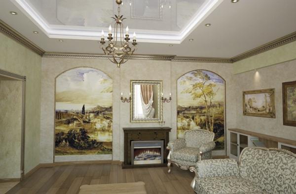 Интерьер c фресками