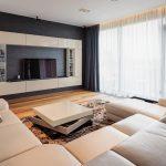 Уютная гостиная в стиле минимализм
