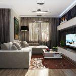 Раздвижной диван в гостиной спальне