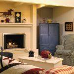 Декоративные элементы в гостиной в кантри стиле