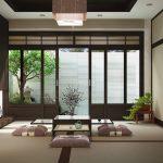 Японская гостиная в загородном доме