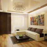 Красивая отделка стен, пола и потолка.