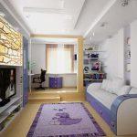 Сиреневый цвет в интерьере гостиной детской