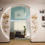 Вариант арки-круга с витражными стеклами