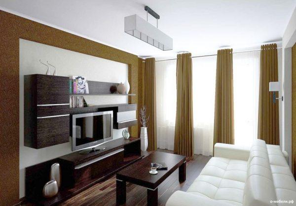 Небольшая гостиная в квартире