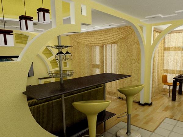 Тайские арки из гипсокартона