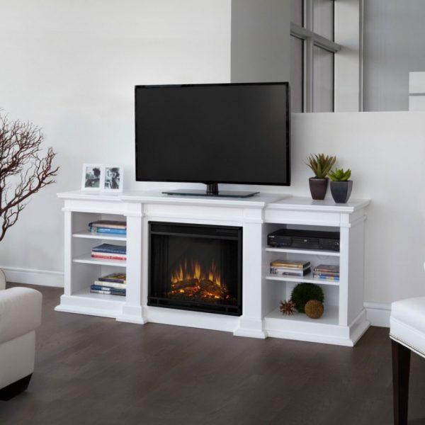 Тумба под телевизор со встроенным электрокамином