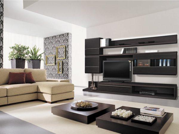 Гостиная с угловым диваном
