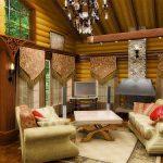 Дизайн гостиной, кантри стиль