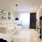 Белый и черный цвет в интерьере гостиной спальни