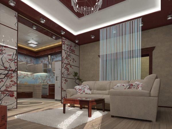 Раздвижные перегородки в квартире в японском стиле