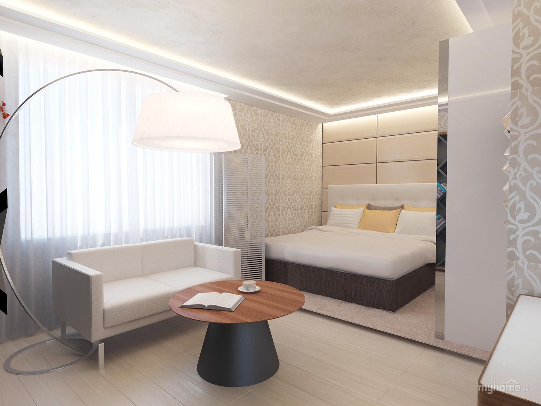 Перегородка в спальне - эффективный инструмент зонирования с.