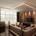 Освещение в современной гостиной