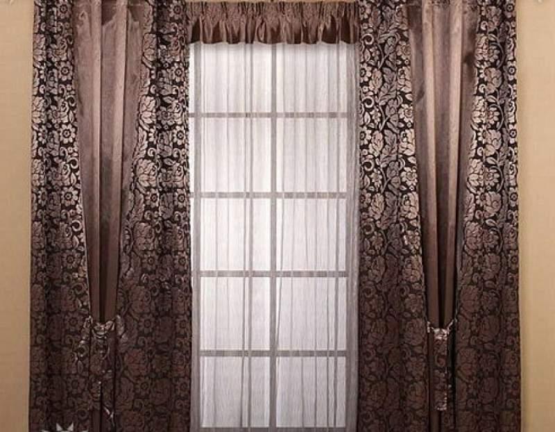 Как сшить комбинированные шторы в гостиную 25