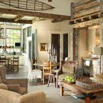 Гостиная в стиле американское ранчо