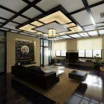 Оформление потолка в японском стиле