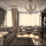 Мраморная плитка для пола в классической гостиной