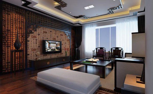 Гостиная в современном японском стиле