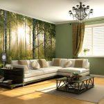 Интерьер гостиной спальни с фотообоями
