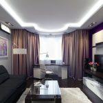 Интерьер маленькой гостиной в современном стиле