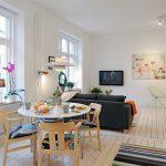 Мебель из натуральных материалов для интерьера в скандинавском стиле