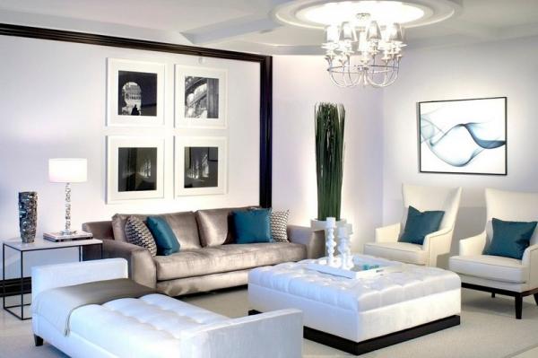 Стильные аксессуары для светлой гостиной