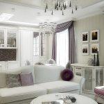 Дизайн интерьера гостиной кухни в современном классическом стиле