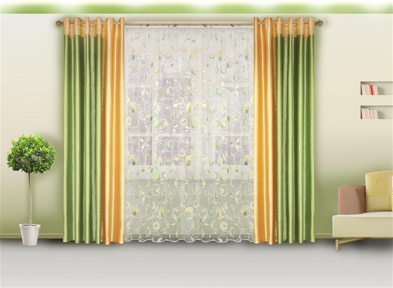 Двухцветные шторы для гостиной фото сочетание цветов