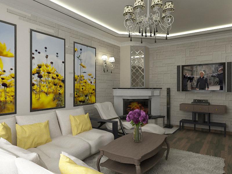 Интерьеры гостиной в маленькой квартире